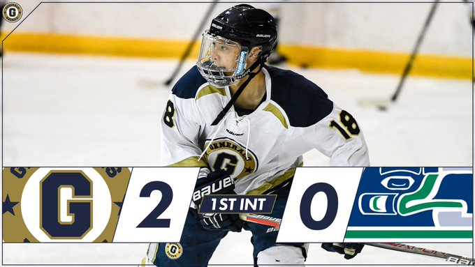 1ST INT | Goals from @darthjbo and @CArbelovsky have the boys up by ✌️ after 20 minutes. #GoGenerals #GensFam Photo