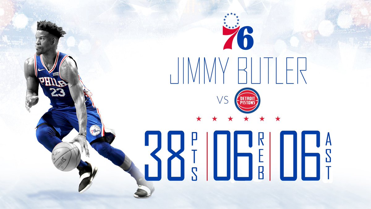 26 points in the second half for back-to-back 38-point games for @JimmyButler! #HereTheyCome