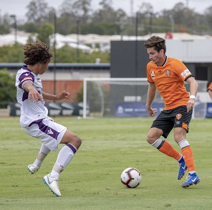 Winners   Brady scored the opening goal that helped @brisbaneroar overcome @PerthGloryFC 2-1 in order to move top of the table #YLeague Photo