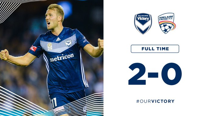 🖐️ in a row and top of the league (for now)! #MVCvADL #OurVictory Photo