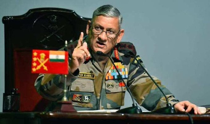 Army Chief General #bipinrawat snubs #ImranKhan's 'Mumbai attack' remark, says 'India knew Pak was behind it' Photo