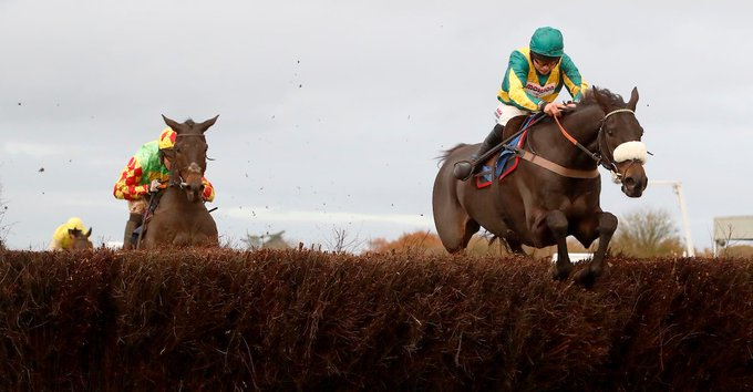 Good luck to our ambassador Bryony Frost, who teams up with old friend Present Man in the Becher Chase @AintreeRaces! #team Photo