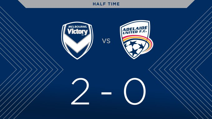 Half-time at @marvelstadiumau and we hold a deserved lead #MVCvADL 2-0 #YLeague Photo