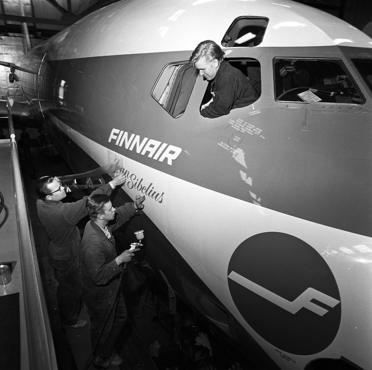Today is the #birthday of Jean Sibelius, and the occasion is also celebrated as the Day of Finnish music. In the 70s one of our #DC8 was named after him. The 1st flight of this aircraft was to Tenerife on 19Dec 1975 #avgeek #aviation #jeansibelius #aviationhistory