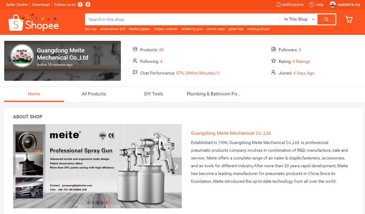 https://shopee.com.my/shop/110757378/  Good news for Malaysia friends! Meite official SHOPEE store opened.   #meite #shopee #onestopsupplier #airnailer #woodworkingtool #industrialgrade #professionaltool #airstapler #f32 #1022j #hb3515 #guangdongmeite #foshanfactory #besttool