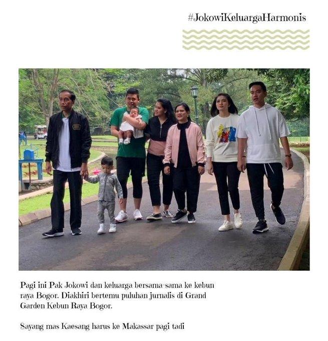 Inak olekm gamajk buk tebak marak meni.#JokowiKeluargaHarmonis Photo