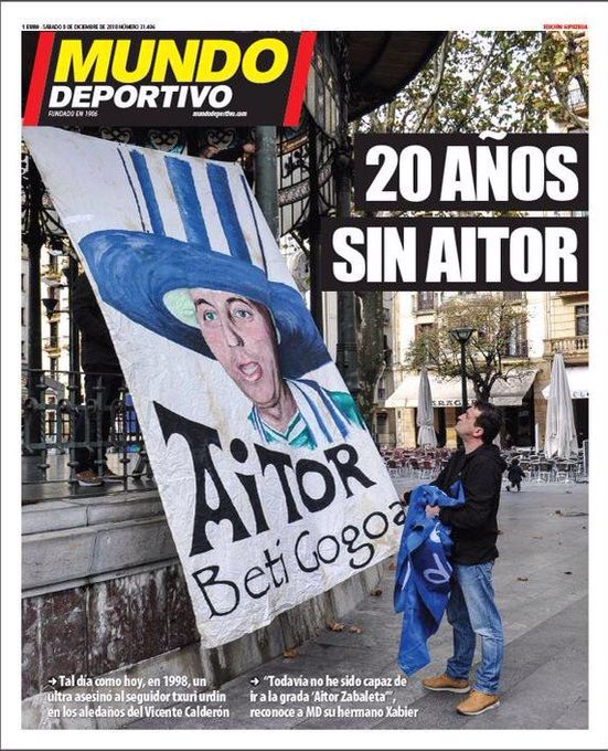 20 años del asesinato de Aitor Zabaleta Dt4LA7xW4AEr9oy