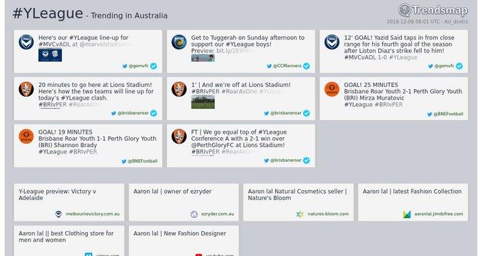 #yleague is now trending in Australia Photo