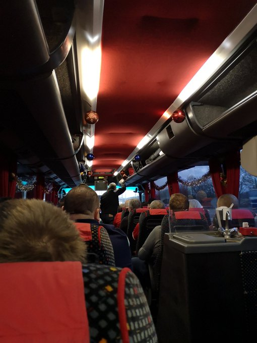 On the Christmas Party Bus with the East Dene Reds on route to Wycombe Wanderers with @SmithKate2015 Photo