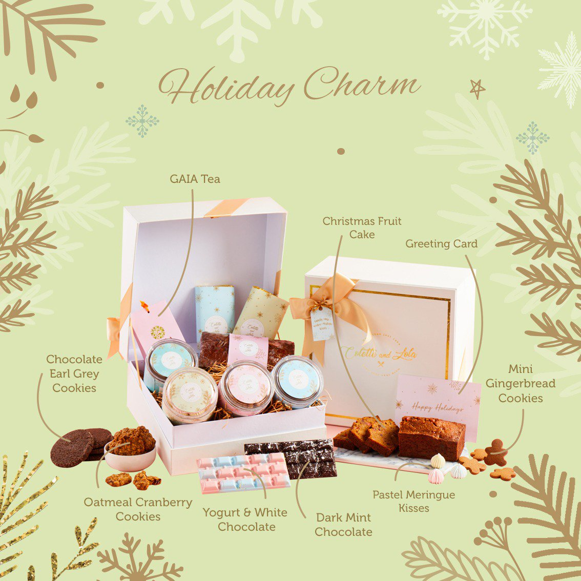 There are 5 of our Christmas Cookies inside Holiday Charm hamper that we cracked hacks for you to try. What are those cookies?