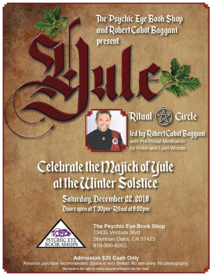 Celebrate Magick Of Yule Winter Solstice Led By Cabot Priest Robert Baggani Doors