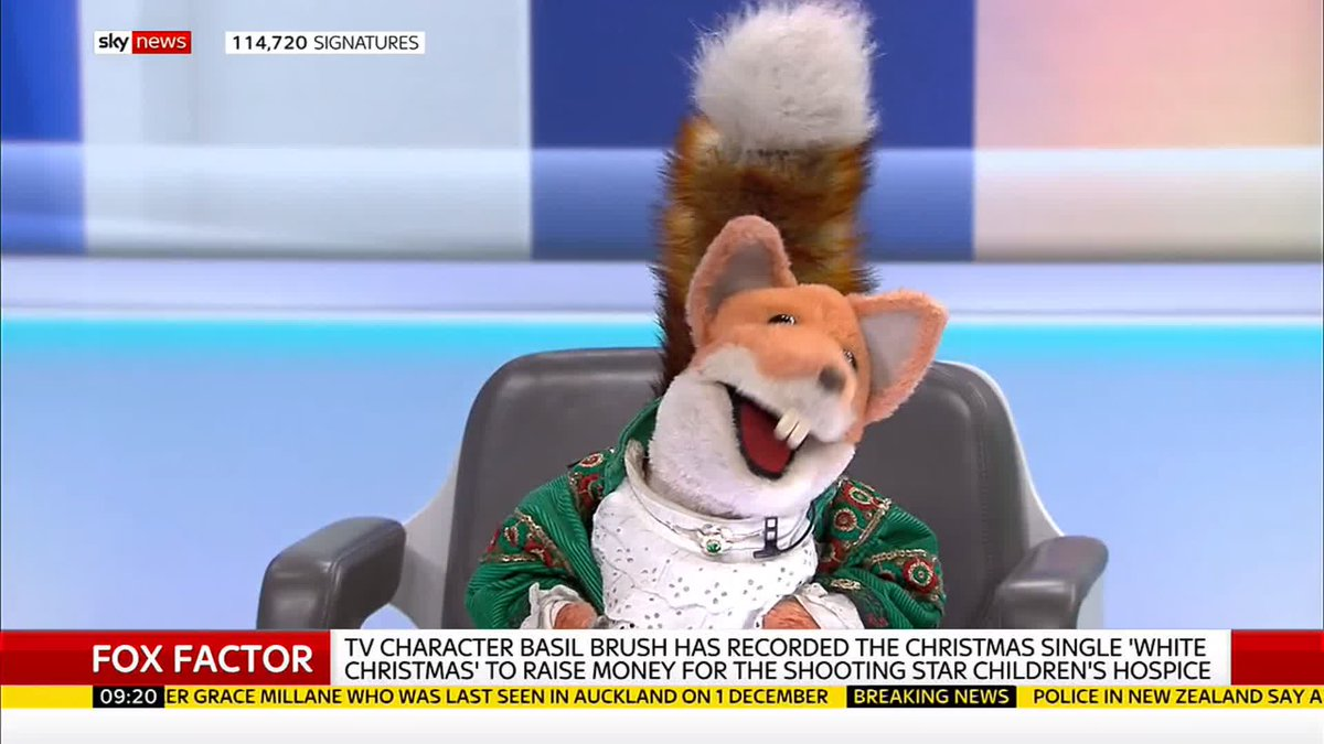 I was usurped by Nick Knowles - Basil Brush has released a Christmas single and tells @skygillian and @skystephen all about his rise up the UK music charts. For more news, head here: news.sky.com