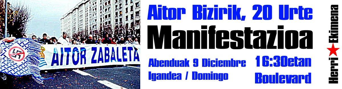 20 años del asesinato de Aitor Zabaleta Dt4lHBXW4AEJQ24