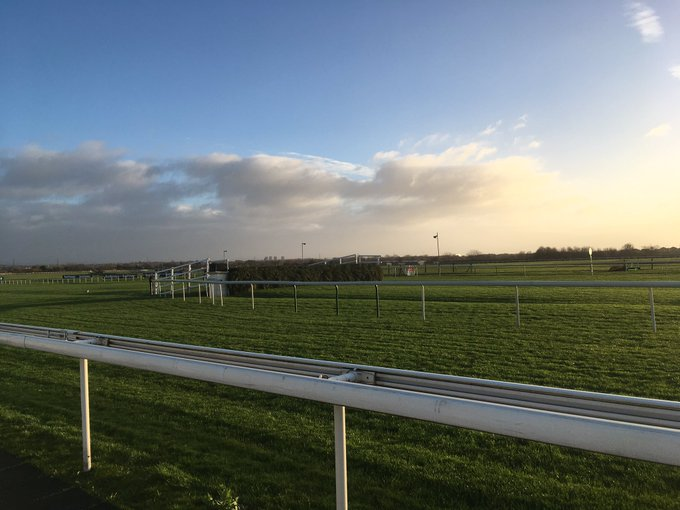 Always great to be back over the National fences @AintreeRaces where the ground is predominantly soft for Becher Chase day Photo