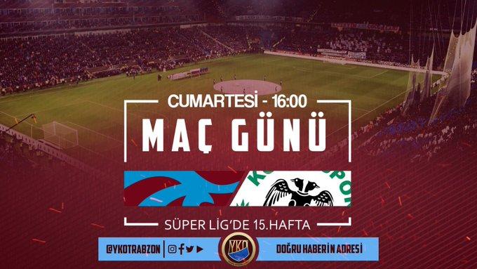 MAÇ GÜNÜ | Trabzonsporumuz ligin ında Konyaspor ile karşılaşacak. Saat 16:00'da oynanacak müsabakayı Mete Kalkavan yönetecek. #bugüngünlerdentrabzonspor🔴🔵 Fotoğraf