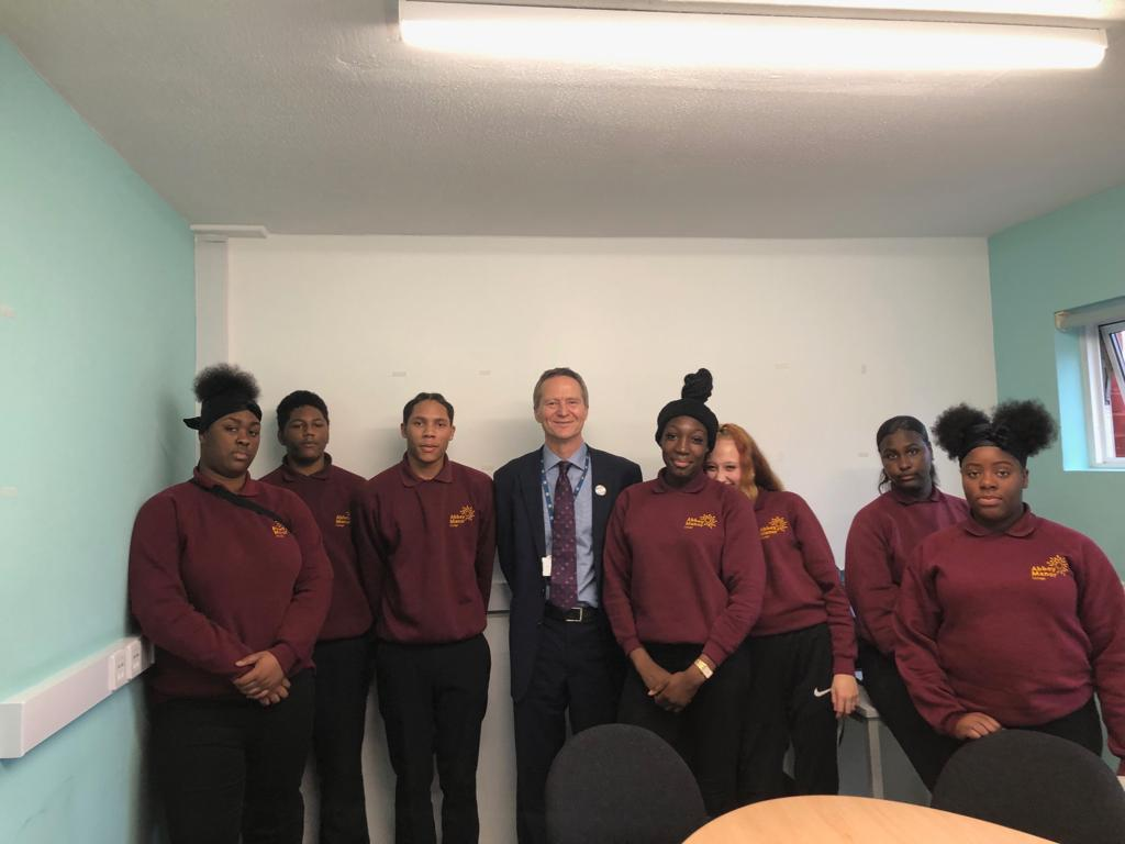 Ambassadors meeting with cllr Chris Barnham during their weekly meeting.