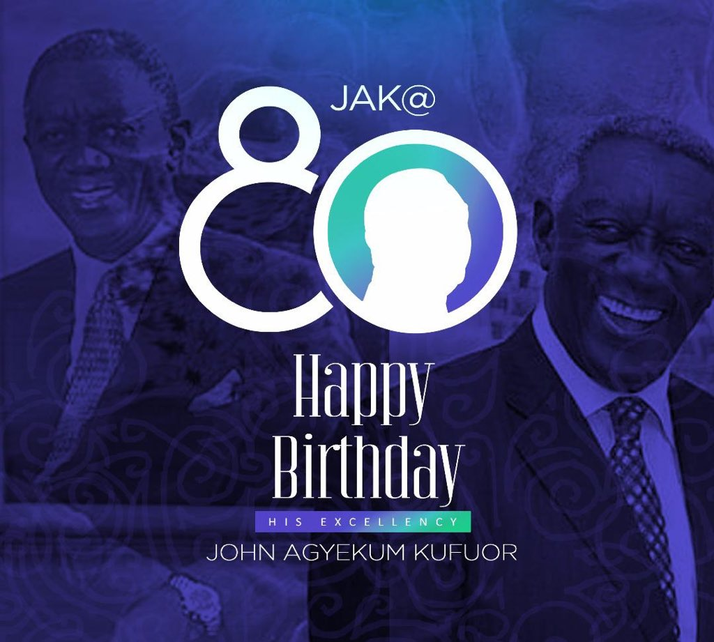 Happy birthday to my former boss and second President of the Fourth Republic of Ghana, John Agyekum Kufuor. #JAKat80