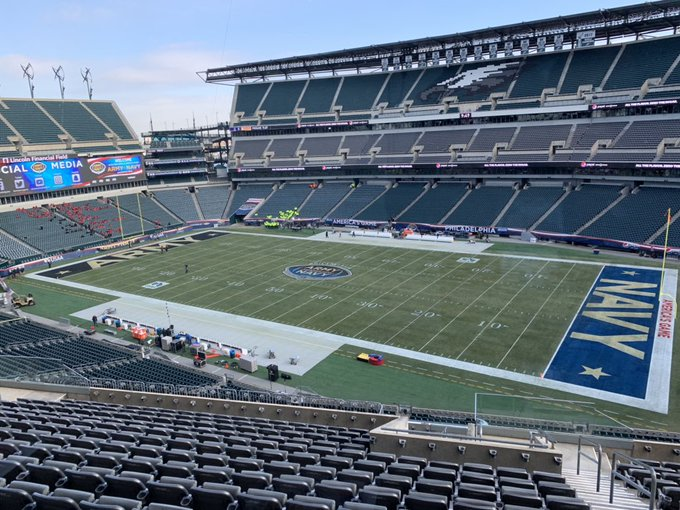 A gorgeous site. The greatest rivalry in sports. America's Game. Kickoff at 3:00 pm for the 119th annual @ArmyNavyGame. #ArmyNavy #USAA Photo