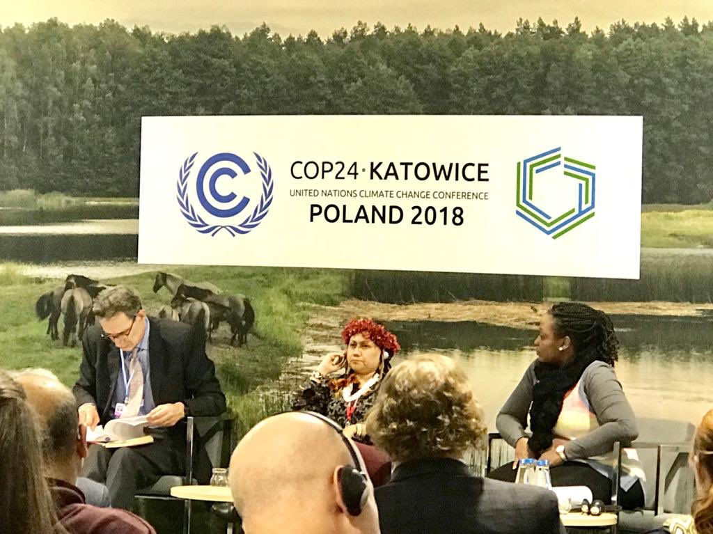 """Barney Dickson, Director, Strategy and Policy Global Center on Adaptation @GCAdaptation: We need to pursue greater ambition, and significantly scale up nature-based solutions"""" #climatechange #COP24Katowice #LandDay"""