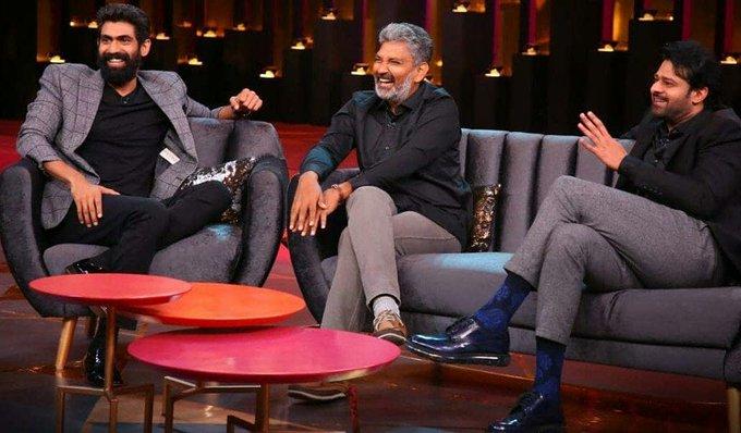 Koffee With Karan: Baahubali's Prabhas, SS Rajamouli and Rana Daggubati join the couch for new episode Photo