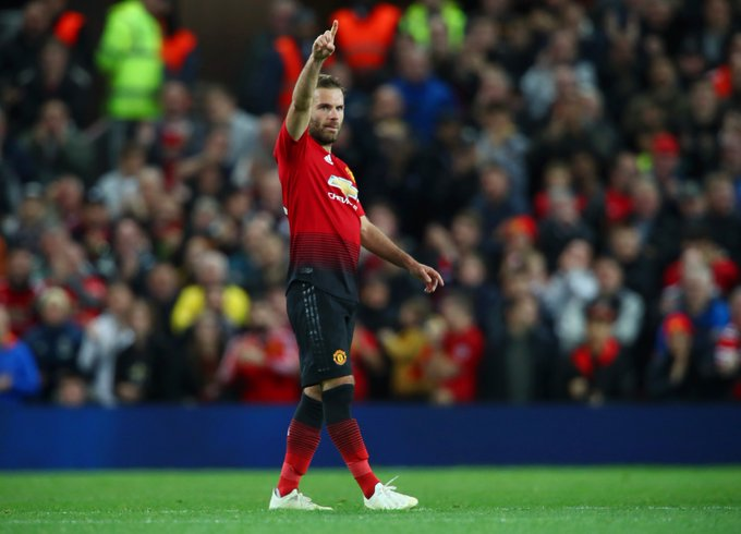 50 - Juan Mata has scored his 50th Premier League goal, becoming the fifth Spaniard to reach this milestone in the competition (also Fernando Torres, David Silva, Diego Costa and Cesc Fàbregas). Arriba. #MUNFUL Photo