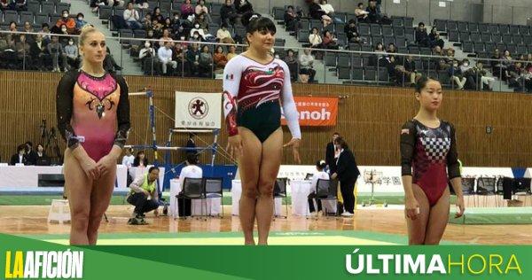 #ÚLTIMAHORA   ¡Una gimnasta que vale ORO! 🥇 Alexa Moreno subió a lo más alto del podio en la Copa Toyota en Japón 🇲🇽🎉 Foto