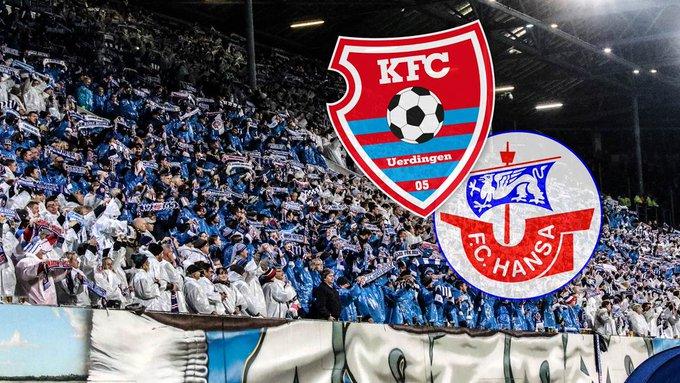 Heftige Krawalle vor Spiel zwischen Hansa Rostock und KFC Uerdingen - viele Verletzte #KFCFCH ➡️ Foto