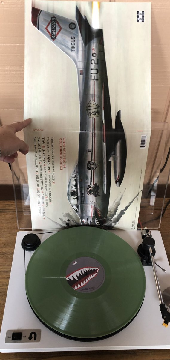 Nice finally add vinylcollection Eminem kamikaze vinyl fu