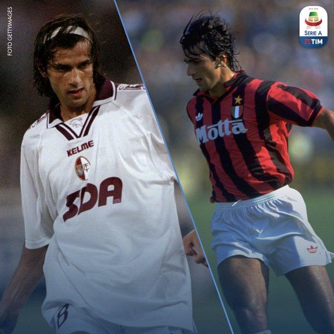 Domenica #MilanTorino si affronteranno, ma in passato si scontrarono per un calciatore che è stato un idolo per i tifosi granata: Gianluigi Lentini! Photo
