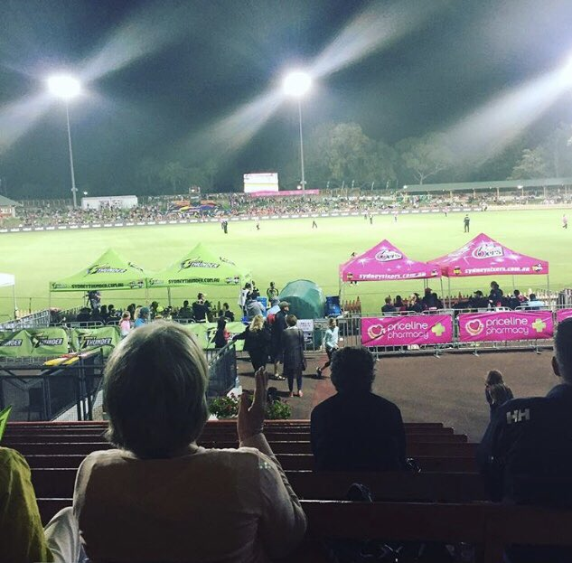 Photo by my 10 year old daughter. She had a great time tonight at North Sydney Oval. #smashemsixers #WBBL04 @SixersWBBL Photo