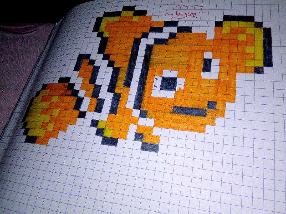 Adepixart On Twitter Premier Pixel Pixelart Nemo Pixel