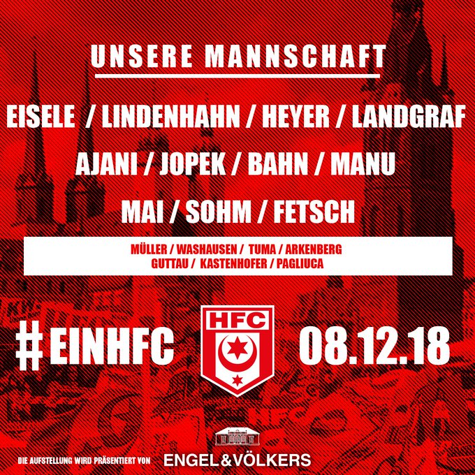 Ever change a winning team. Toni Lindenhahn rückt nach Sperre in die Startelf. #EBSHFC Foto