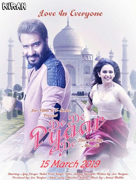 #DeDePyaarDe, an urban rom-com, starring Ajay Devgn, Tabu and Rakul Preet Singh is slated to release on 15 March 2019. An urban rom-com directed by Akiv Ali. Produced by TSeries and Luv Films. Photo