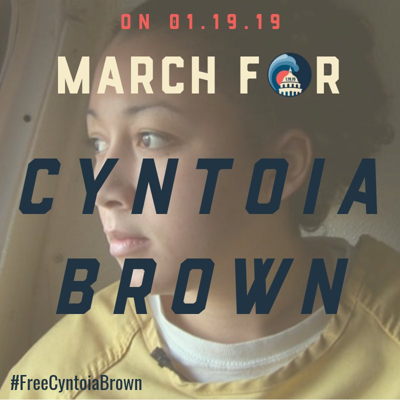 Cyntoia Brown pic Women's March