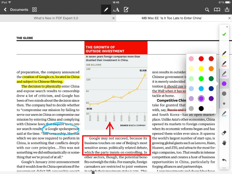 Another helpful suggestion from @thesiswhisperer -- If you do a lot of PDF reading on your iPad @Readdle's PDF Expert is fantastic @TheSocReview for annotating, exporting, sharing #SocialMediaPhD #academictwitter #PDF