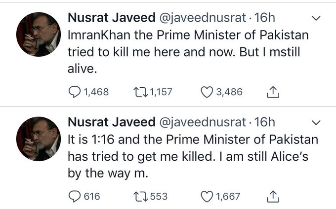Pakistani journalist got a flat tire and accused Imran Khan of trying to assassinate him. Totally normal. Photo