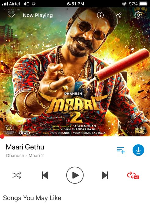 #Maari2 #MaariGethu It's a Treat to all @thisisysr fans Yes our YU❤️AN is back with full of energy 🥁🥁🎺🎺 Photo