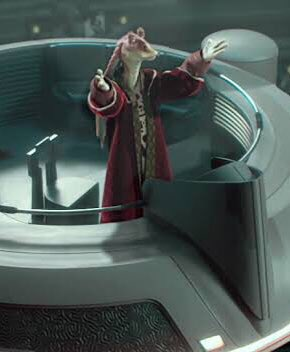 here's why JAR JAR BINKS should host the oscars: • has experience communicating to large crowds • is a source of jokes and has provided comic relief to audiences before • was a representative in the galactic senate which demonstrates professionalism Photo