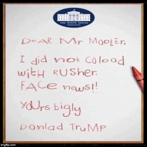 Advance copy of Trumps official response to the Mueller Report obtained. #SaturdayMorning #TheResistance #MAGA #Trump #Resist #ImpeachTrump