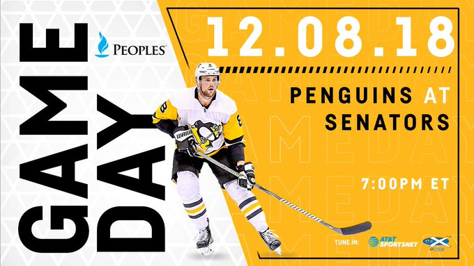 WHO: Pens vs. Sens WHAT: Hockey WHERE: Ottawa WHEN: 7:00PM WHY: Why not? Photo