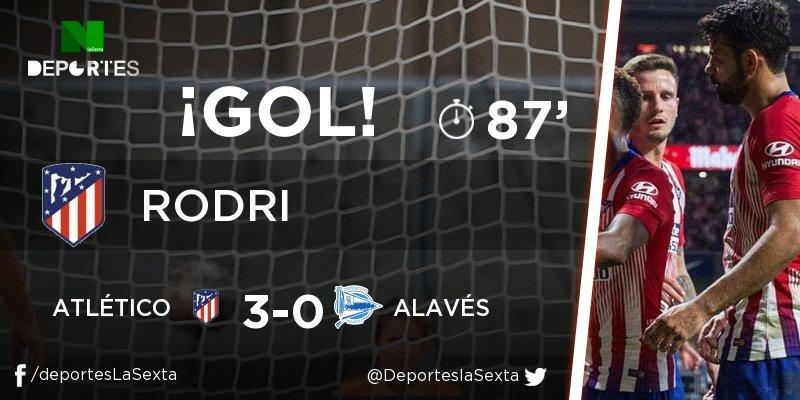 bee57a6d03 ¡GOL de Rodri (Atlético)! Atlético - Alavés 3-0. En
