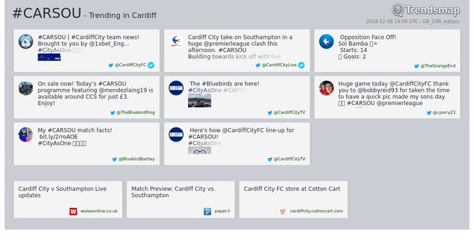 #carsou is now trending in #Cardiff Photo