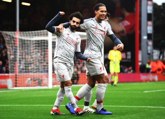 FT: Bournemouth 0-4 #LFC ⚽⚽⚽ Salah ⚽ OG - Cook REDS GO TOP OF THE TABLE! 🔴👏 Opinion, Reds? 🤔 Photo