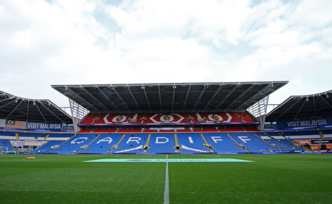 The stage is set at Cardiff City Stadium. Big game today. #CARSOU Live updates: Photo