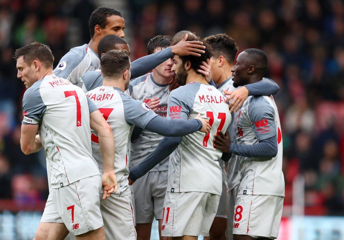 أهداف فوز ليفربول على بورنموث وتألق محمد صلاح