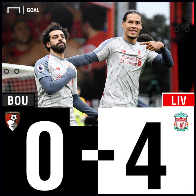 FT: Bournemouth 0-4 Liverpool - #BOULIV #MatchdayGoal Photo