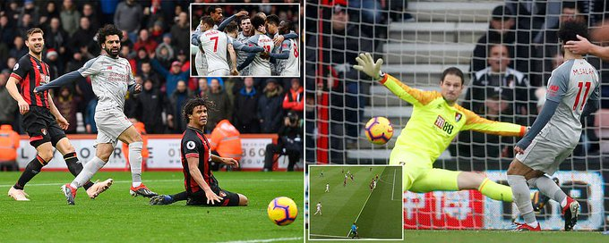 FULL TIME Bournemouth 0-4 Liverpool Photo