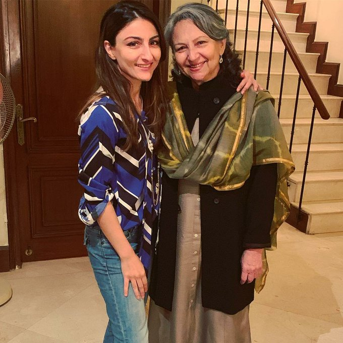 .@sakpataudi shares an adorable picture with mom #SharmilaTagore on her birthday Photo