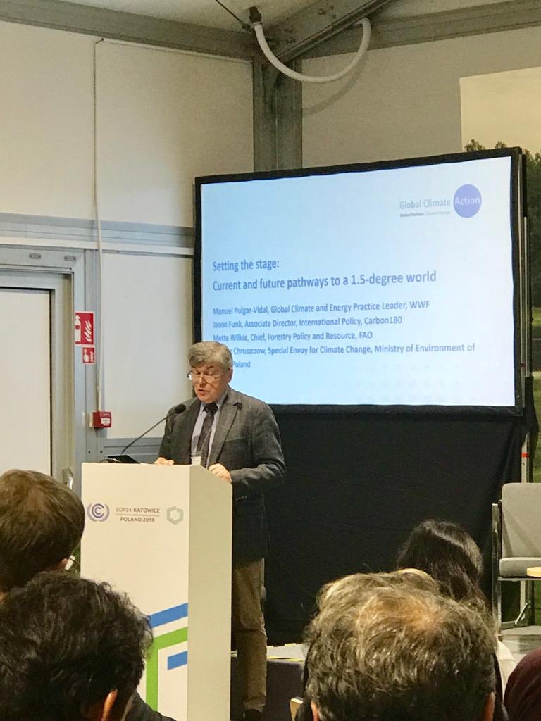 Tomasz Chruszczow, Special Envoy for #ClimateChange, Poland: We need to protect peatlands and forests.We need #globalaction that will bring about a rebalance of the bio systems, transform economies and balance what is emitted, with what is captured. #COP24Katowice