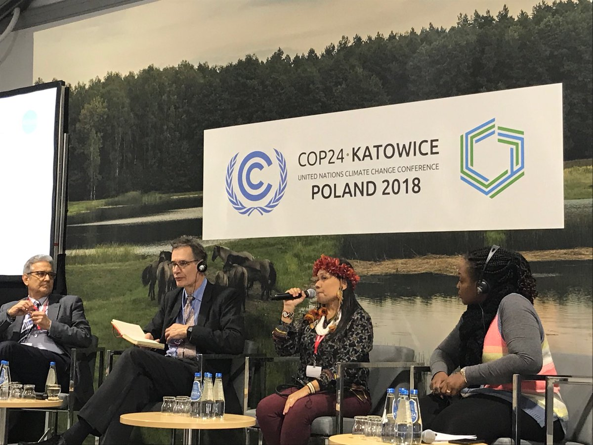 Francinara Soares Bare of @Coiab_Amazonia shares Indigenous Peoples play an essential role in mitigating #climate change through conserving their #forests and we need help! #COP24Katowice #landday @coicaorg @unredd